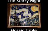 La mesa de mosaico de noche estrellada
