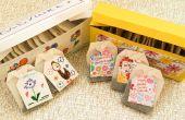 BRICOLAJE con niños para el día de la madre. Caja de regalo té y etiquetas de té.