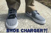Zapatos piezoeléctricos: Cargue su dispositivo móvil a pie!