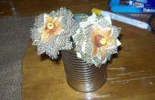 Cómo hacer flores de arpillera