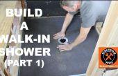 Cómo construir una ducha walk-in (parte 1: ducha Wedi Pan)