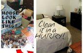 Limpieza de una casa desordenada (de prisa)!