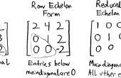 Transformación de Matrices cuadradas en fila Echelon forma reducida
