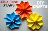 Estrellas de papel de DIY manualidades tutoriales - fácil
