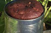 Pastel de chocolate instantáneo para mochileros