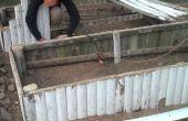 Levantado de la cama de jardín de valla de cedro