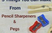 3 cosas que usted puede hacer de sacapuntas y clavijas