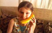 Bluetooth inalámbrico de plátano teléfono