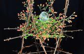 Avispa y hierba huevo de resina con soporte de Rose