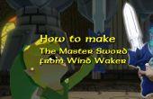 Espada de cartón pluma maestra (unpowered) de la leyenda de Zelda Windwaker