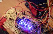 TimeDuino - 7 segmento de reloj de Arduino (no hay registros de cambio necesitados!)