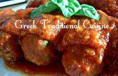 Soutzoukia (Griego '' albóndigas '' en salsa de tomate) griego comida de YiaYia pero vegana!!