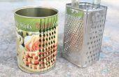 Cómo hacer un rallador de lata