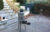 Cohete de estufa y asador
