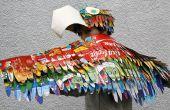 Disfraz loro Makedo: Vestir alas de pájaro y loro sombrero