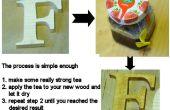 Tinción de madera con té