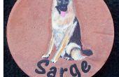 Hacer retratos de mascotas en concreto