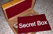 Caja de madera de fondo falso