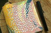 Lona cubierta notebook - laser de corte y cosido a mano
