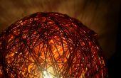 Brillante lámpara de alambre de cobre