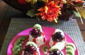 Merengue y semifríos de licor de café cubierto con chocolate afeitado, coto fresa, kiwi y cereza