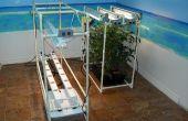 Mi sistema de hidroponía NFT interior