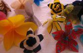 Alhelíes (bolsa de plástico colgando flores)