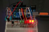 Gráfico de barras sensibles Arduino luz