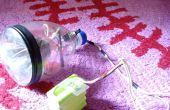 Como hacer LED linterna para bicicleta con una botella.