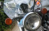 Parabrisas de motocicleta fácil