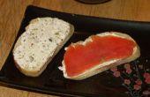 Para servir con salmón ahumado