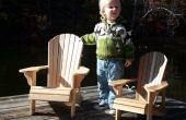 Niño tamaño Adirondack sillas