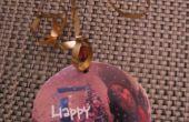 Tarjeta de vacaciones de reflexión papel adorno