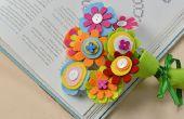 Cómo hacer Ramos de flores de fieltro con botones y cuentas de madera