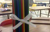 Florero del lápiz de color