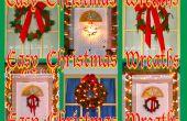 Coronas de Navidad fácil