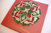 Tarjeta Medallon de Navidad