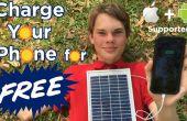 Cargar su teléfono gratis con el Panel Solar cargador de teléfono