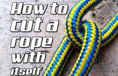 Cómo cortar una cuerda con sí mismo