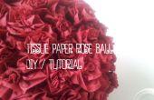 Tejido de papel rosa bola - Tutorial DIY