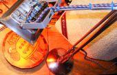 Feroz Anglepoise Rgb + lámpara estroboscópica brillante futuro partido Punk Retro de plata