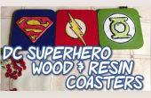 Posavasos de resina de madera del superhéroe de DC &