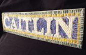 Custom Nueva York metro nombre mosaico muestra