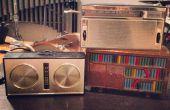Caja de música de Arduino dentro de un radio transistor vintage