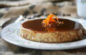 Una Ale oscura 1554, café y cacao Flan con cáscara de naranja rallada