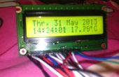 Usted mismo hacer un reloj casero con termómetro usando ATMEGA128
