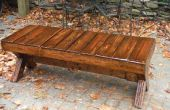 Banco de picnic de madera, madera $30, $15 final.