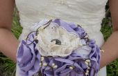 Ramo de Novia de la boda flores de tela