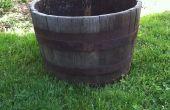 Renovar una vieja jardinera barril