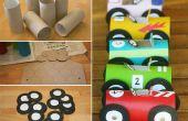 Coche de carreras del rollo de papel higiénico